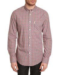 Ben Sherman | Checkered Sportshirt for Men | Lyst