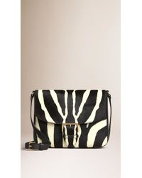 Burberry - Natural Small Calfskin Cross-Body Bag - Lyst