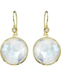 Irene Neuwirth | Metallic Gemstone Double-drop Earrings | Lyst