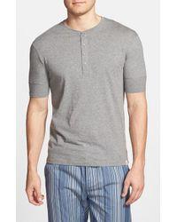 Paul Smith - Gray Short Sleeve Henley for Men - Lyst