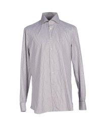 Kiton - Brown Shirt for Men - Lyst