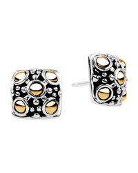 John Hardy | Metallic Jaisalmer Square Stud Earrings | Lyst