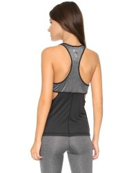 Splits59 - Lexie Performance Tank - Black/heather Grey - Lyst