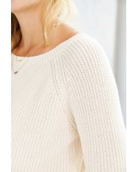 Kimchi Blue | White Off-shoulder Cropped Sweater | Lyst