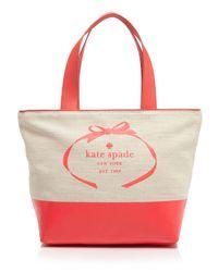 Kate Spade | Red Tote - Heritage Spade Logo | Lyst