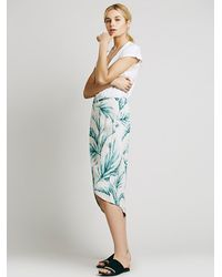 Free People | Blue Havana Print Wrap Skirt | Lyst