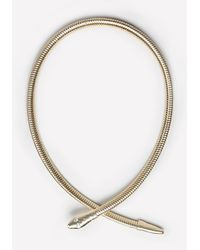 Bebe | Metallic Snake Coil Collar Necklace | Lyst