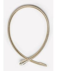 Bebe - Metallic Snake Coil Collar Necklace - Lyst