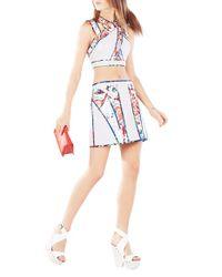 BCBGMAXAZRIA Multicolor 'andrick' Print Quilted Miniskirt