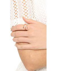 Avec New York - Pink Estelle Stone Ring - Lyst
