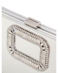 Roger Vivier | Metallic Pilgrim Swarovski Mirror Leather Clutch | Lyst