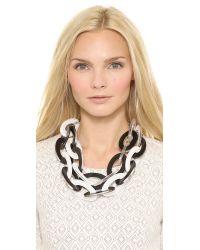 Adia Kibur - Link Layer Necklace - Black/White - Lyst