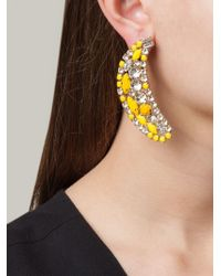 Shourouk - Yellow Banana Clip-On Earrings - Lyst