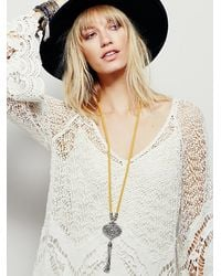 Free People | Metallic Womens Crest Pendant | Lyst
