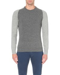 Orlebar Brown | Gray Palmer Colour-block Wool Jumper - For Men for Men | Lyst