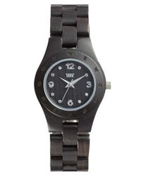 WeWood | Black 'moon Deneb' Wood Bracelet Watch | Lyst