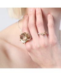 Tessa Metcalfe - Metallic Single Claw With An Opal Mini Ring - Lyst