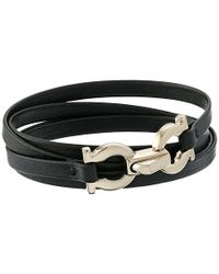 Ferragamo - Black 344673 Gancini Bracelet - Lyst