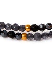 Tai - Black Multi-strand Hematite Beaded Bracelet - Lyst