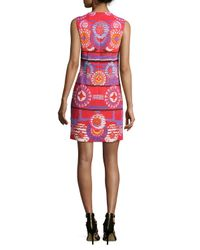 Peter Pilotto - Red Medallion-print Sleeveless Shift Dress - Lyst