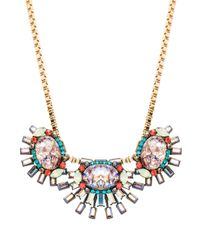 Elizabeth Cole - Elliptical Necklace in Metallic Gold - Lyst