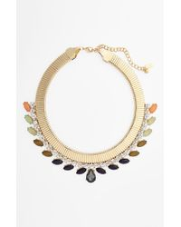 Tasha | Metallic Na Couture Snake Chain Ombre Collar Necklace | Lyst