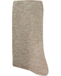 Alto Milano - Brown Printed Glitter Short Socks - Lyst
