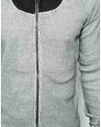 DIESEL - Black Shawl Sweatshirt Sylvestre Zipthru for Men - Lyst