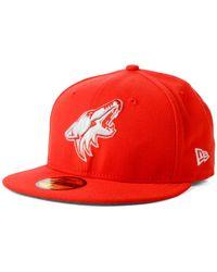 KTZ - Orange Arizona Coyotes C-dub 59fifty Cap for Men - Lyst