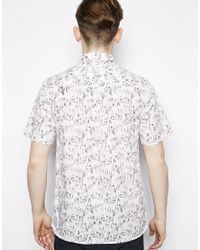 Fred Perry - White Margate Shirt With Print for Men - Lyst