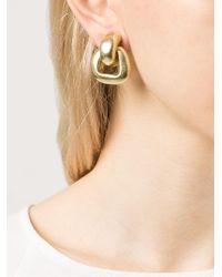 Vaubel - Metallic Rectangular Loop Clip-on Earrings - Lyst