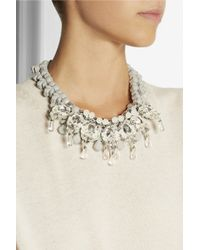 EK Thongprasert - Gray Ballonne Silver-Plated, Silicone And Crystal Necklace - Lyst