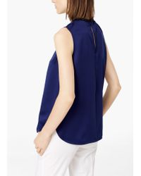 Mango | Blue Flowy Textured Top | Lyst