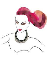 Alyssa Norton - Black Hand Braided Rhinestone Necklace - Lyst