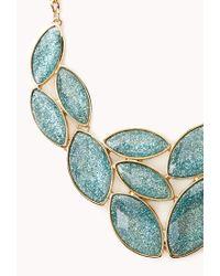 Forever 21 - Blue Sparkle Bib Necklace - Lyst