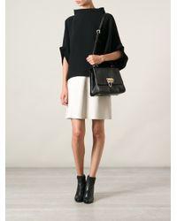 Dolce & Gabbana - Black Lizard Effect Shoulder Bag - Lyst