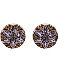 Ileana Makri - Blue Deco Flower Stud Earrings - Lyst