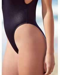 Free People - Black Carbon High Cut One Piece - Lyst