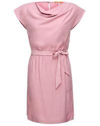 BOSS Orange Purple Dress In Lyocell Blend: 'ablura'