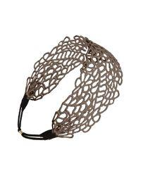Natasha Couture - Brown Tasha 'flora' Head Wrap - Lyst