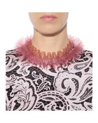 Mary Katrantzou | Pink Ruffled Transparent Necklace | Lyst