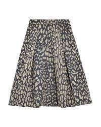Iris & Ink | Blue Tara Leopard-Jacquard Midi Skirt | Lyst