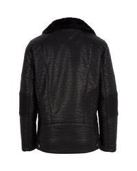 River Island   Boys Black Leather-look Biker Jacket   Lyst