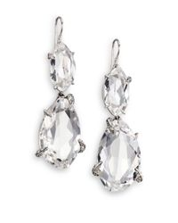 Alexis Bittar Fine | Metallic Silver Ice Marquis Clear Quartz, Grey Diamond & Sterling Silver Drop Earrings | Lyst