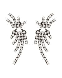 DANNIJO | Metallic Willis Crystal Ear Jacket & Button Earrings Set | Lyst