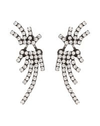 DANNIJO - Metallic Willis Crystal Ear Jacket & Button Earrings Set - Lyst