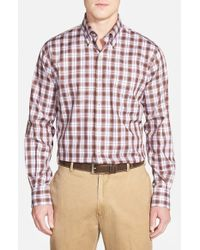 Peter Millar - Pink 'jubilee Melange Plaid' Regular Fit Sport Shirt for Men - Lyst