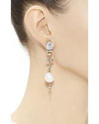 Helen Yarmak International - Metallic One Of A Kind Aquamarine and Cultured Pearl Drop Earrings - Lyst