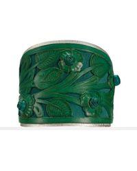 Ralph Lauren | Green Tooledleather Cuff | Lyst