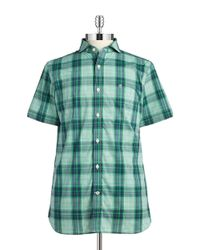 Victorinox | Green Plaid Sportshirt for Men | Lyst